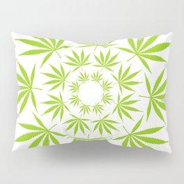 Cannabis Leaf Circle (White) Pillow Sham