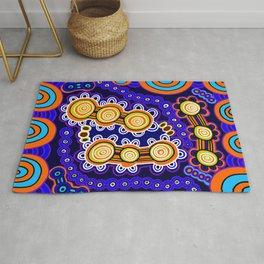 Authentic Aboriginal Art - Yugarabul Gathering Rug