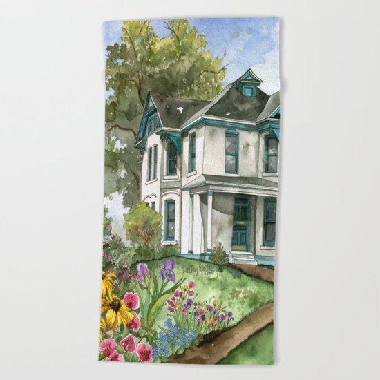 Garden House Beach Towel
