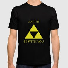 May the triforce be with you LARGE Black Mens Fitted Tee
