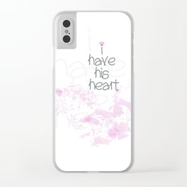 I have his heart Clear iPhone Case