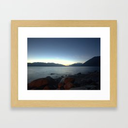Lakes of BC by Night Framed Art Print