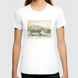 Vintage Pictorial View of Dubuque IA (1854) T-shirt