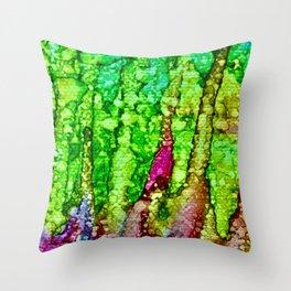 Green Avalanche of Environmental Restoration Throw Pillow