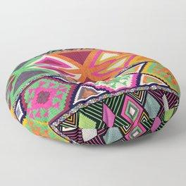 Aztec Artisan Tribal Bright Floor Pillow