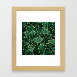 Deep Emerald Framed Art Print