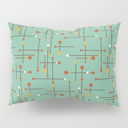 Pins and Needles Mid Century Modern Retro Green Pillow Sham