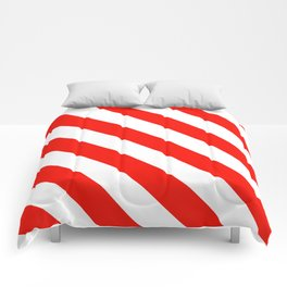 Candy Cane Stripes Holiday Pattern Comforters