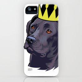 Labrador black king iPhone Case