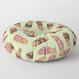 Birkenstock Pastel Green Pattern | Watercolor Pattern design | Shoes pattern | Shoes design Floor Pillow