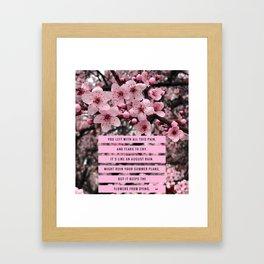 Cherry Blossom Love Framed Art Print