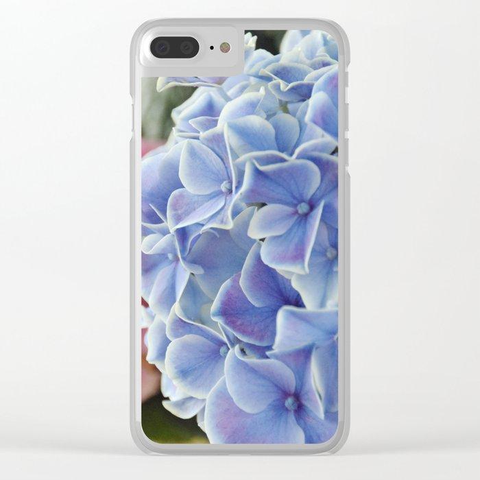 Purple Hydrangea Clear iPhone Case