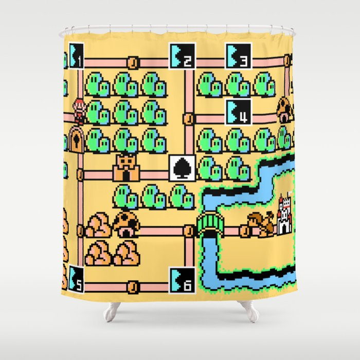 Super Mario Bros Shower Curtain 4k Wallpapers Design