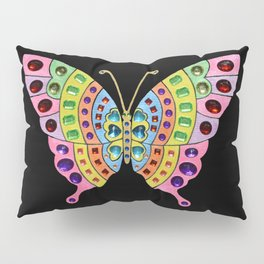 Jeweled Butterfly Pillow Sham
