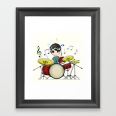 Chibi Drummer Framed Art Print