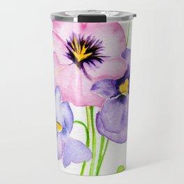 Pretty Pansies Travel Mug