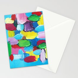 Colorful Day Abstract Stationery Cards