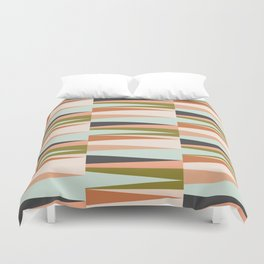 Scandinavian Geometry Pattern green #Homedecor Duvet Cover