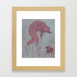 Carmine Chalk Framed Art Print