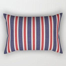 De rayas azules y rojas Rectangular Pillow