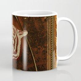 Wonderful  tiger head, golden colors Coffee Mug