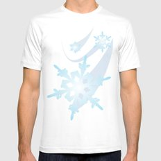 Winter Flakes MEDIUM Mens Fitted Tee White