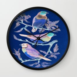 Blue Bird Shirt Christmas gift for him father brother son cousin husband Wall Clock