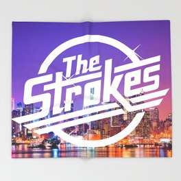 The Strokes Logo New York Night Throw Blanket