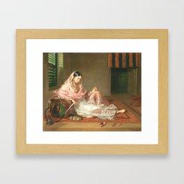 Muslim Lady Reclining - Renaldi Framed Art Print