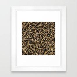 Rifle bullets Framed Art Print