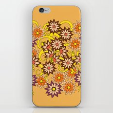 yellow floral pattern in boho style iPhone & iPod Skin