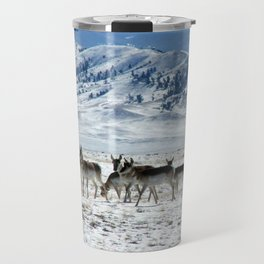 Pronghorns in the Basin Travel Mug