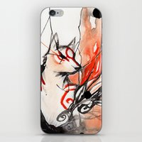 okami iPhone & iPod Skins featuring Okami by Rubis Firenos