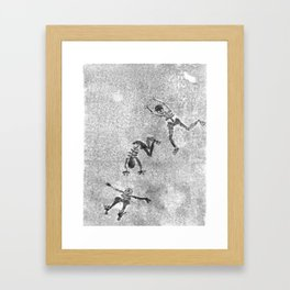 Midnight Shadow Dancers Framed Art Print