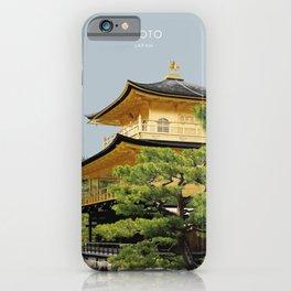 Kyoto Kinkaku-ji Temple Japan Artwork iPhone Case
