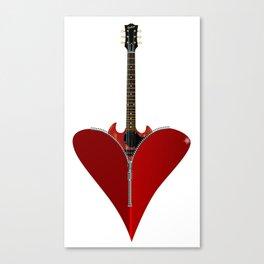 Love Guitar Canvas Print