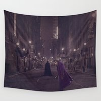 gotham Wall Tapestries featuring Gotham Nights by Ed Burczyk