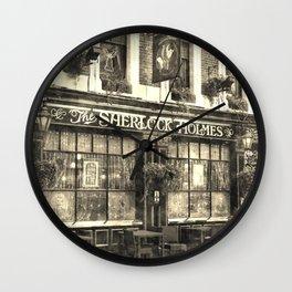 The Sherlock Holmes pub Vintage Wall Clock