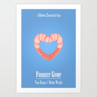 forrest gump Art Prints featuring Forrest Gump by Josh Goldman