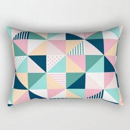 Abstract Triangles Rectangular Pillow