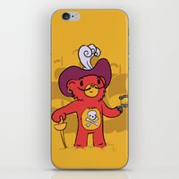 captain hook iPhone & iPod Skins featuring Captain Bear Hook by pepemaracas