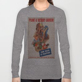 Vintage poster - Victory Garden Long Sleeve T-shirt