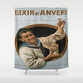 Vintage poster - Elixir d'Anvers Shower Curtain