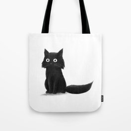Sitting Cat (mono) Tote Bag