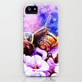 two snails make love wsstd iPhone Case