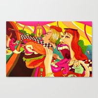 eat Canvas Prints featuring EAT by DVOART