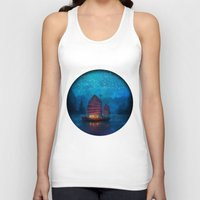 jazzberry blue Tank Tops featuring Our Secret Harbor by Aimee Stewart