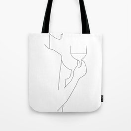 Red Wine Lines Tote Bag