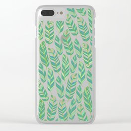 Pattern of tropical leaves. Clear iPhone Case