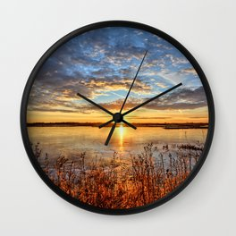 The Ice Over Wall Clock